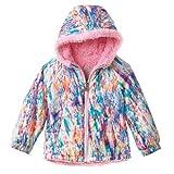 ZeroXposur Little Girls' Abstract Pattern Berber Fleece Jacket (2T)