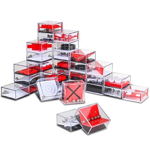 BOROK 24 Stücke Balance Labyrinth Spiel Maze Puzzle Box Irrgarten Mitgebsel Knobelspiele IQ Spiele Set 3D Puzzle Geduldspiele als Adventskalender Inhalt für Kinder und Erwachsene🥇