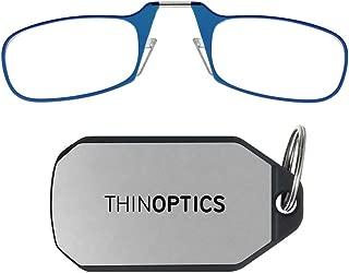 ThinOpticsReading Glasses + Keychain Case   Blue Frame, 2.00 Strength Readers