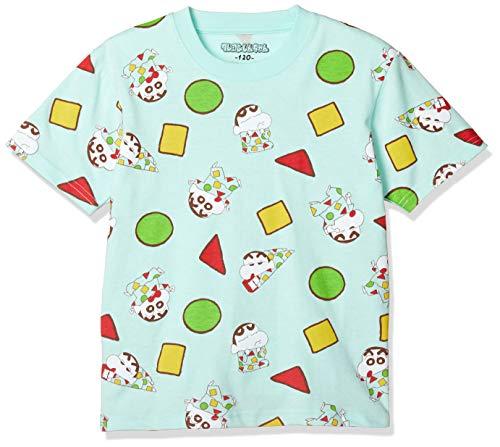 [クレヨンシンチャン] Tシャツ クレヨンしんちゃん KIDS パジャマ 総柄 半袖 サックス 日本 150 (日本サイズ150 相当)