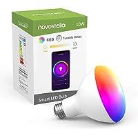 Novostella BR30 E26 10W (85W Equivalent) WiFi Smart LED Bulb Compatible with Alexa, Google Home (No Hub Required)