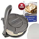 10 Inch Cast Iron Tortilla Press by StarBlue with FREE 100 Pieces Oil Paper and Recipes e-book -...