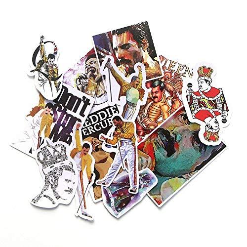 Freddie Mercury Queen Aufkleber 13 Stück Wasserdicht Sonnendach Laptop Bike Aufkleber