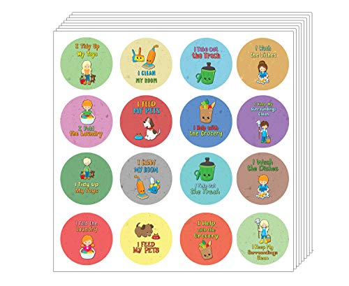 Creanoso enfants Corvées Helper Autocollants (5 feuilles) - Coronavirus Covid-19 - Protection de bas de Noël récompenses incitatives pour les étudiants d'enfants Garçons Filles Homeschooling