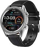 ANSUNG Smartwatch Uomo,Chiamate Bluetooth,Orologio Fitness Uomo Tracker Cardiofrequenzimetro Orologio Fitness Activity Tracker Touchscreen Orologio Sportivo Uomo Compatibile con iOS Android(Argento)