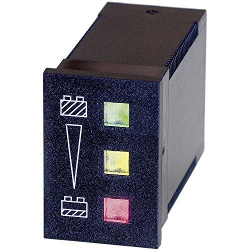 bauser 82412V Protección batería 824–12V/DC Verde Color ≥ 12V Amarillo Color < 12V ≥ 11V Rojo Color < 11V Dim. installazion