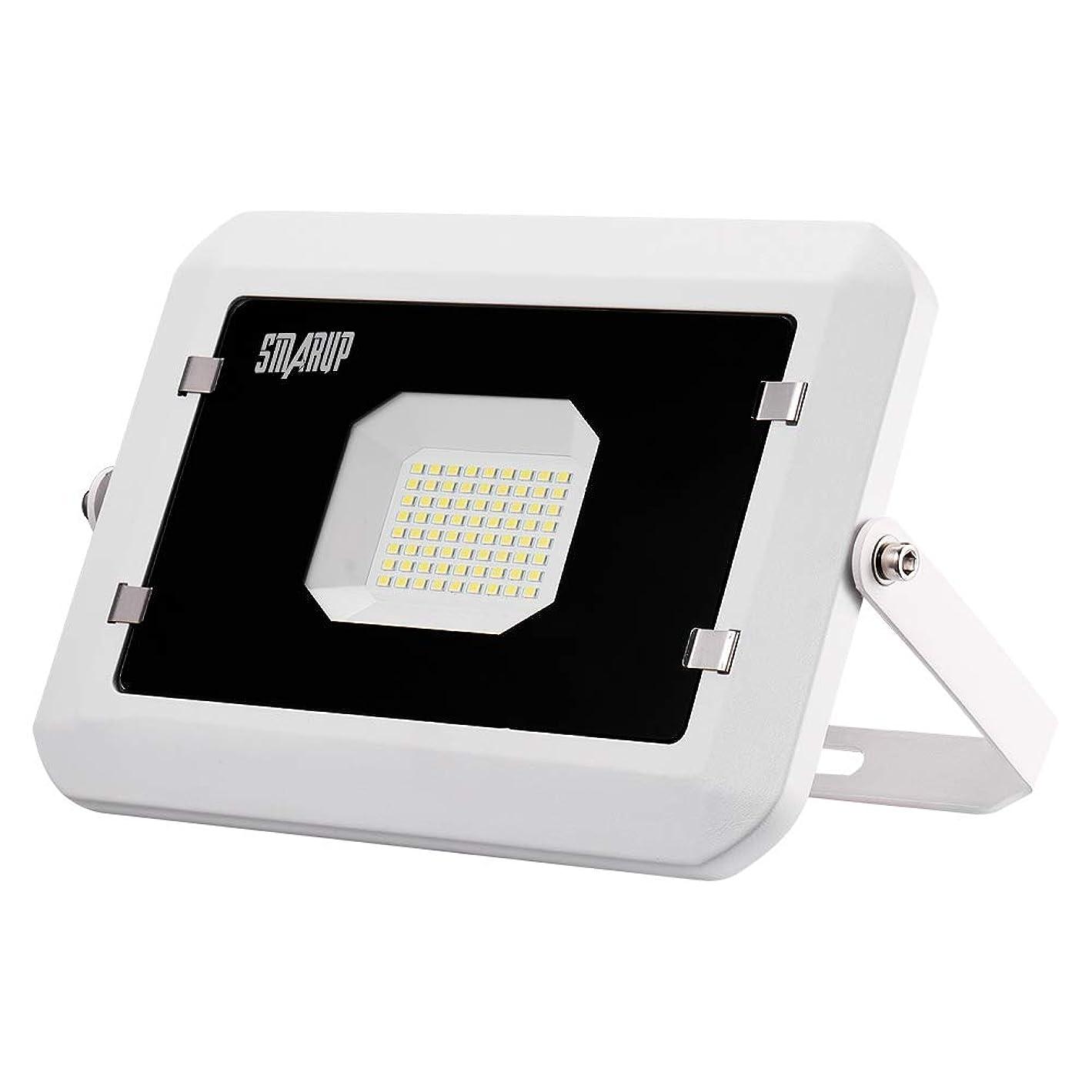 シャツ出発殺人50W LED投光器 led作業灯 500W相当 超薄型LEDライト 広角広範囲昼光色 IP66防水防塵 室内 屋外照明【SMARUP】