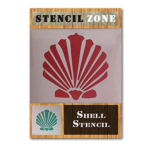 Shell Sea Beach Sand Rocks Mylar Airbrush Malerei Wand-Kunst-Handwerk-Schablone 4-XS