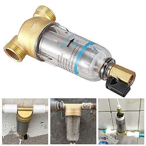 Eustoma Wasserfilterkartuschen für Trinkwasser, Rückspül-Schutzfilter - 3/4 Zoll Hauswasserfilter Brunnenwasser Hauswasser 6000 L/h Durchflussmenge (1/2