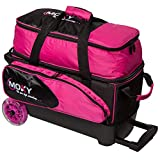 Moxy Bowling Products Blade Premium Double Roller Bowling Bag- Pink/Black