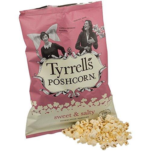 Tyrrells Poshcorn - Popcorn dolci e salati - 80g