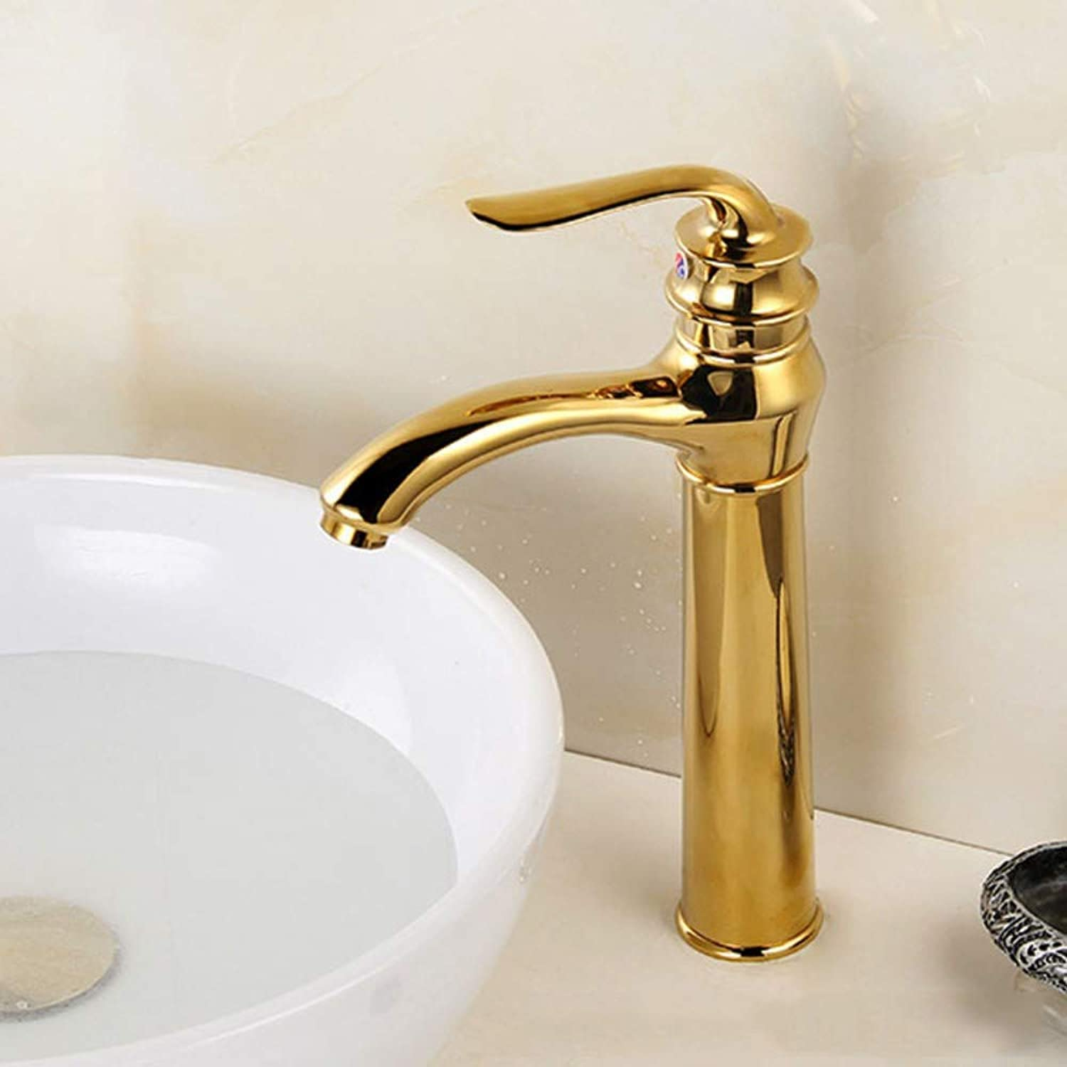 Above Counter Basin Faucet Basin gold Faucet Copper Hot and Cold Water Faucet High