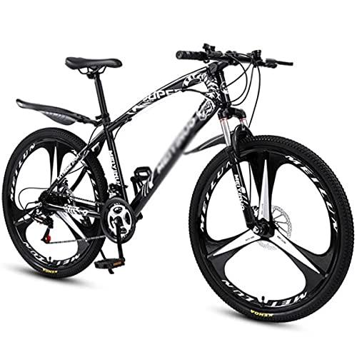 MQJ Bicicleta de Montaña de Doble Suspensión para Niños, Niñas, Hombres Y Mujeres de 26 Pulgadas de Ruedas de 21/24/27 Speed Chiller con Frenos de Disco/Negro/24 Velocidades