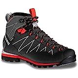 Dolomite Bota Crodarossa PRO GTX, Stivali da Escursionismo Alti Unisex-Adulto, Nero Rosso Fuoco, 43 1/3 EU