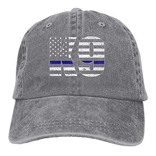 wwoman Police K9 Thin Blue Line Snapback Algodón Sombrero Ceniza