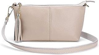 Damen Schultertaschen Leder Clutch Kosmetik Gezeiten Tasche Verdeckte Tasche