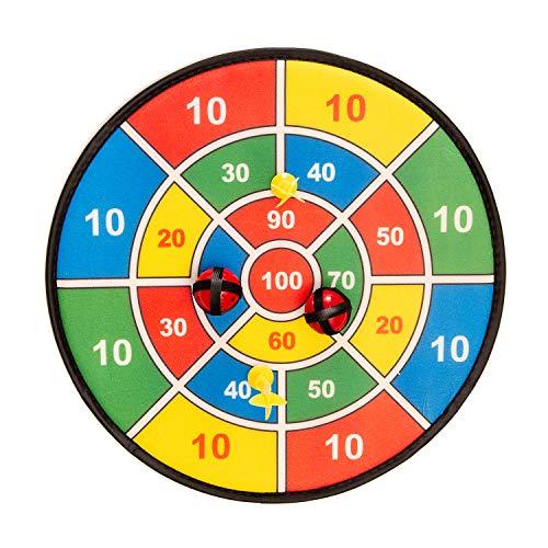 FUN Toys 10093 10093-Dartscheibe 37 cm mit Klettband, Dart Spiel Klett Scheibe, Bälle, Pfeile