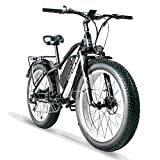 Cyrusher XF650 1000W Electric Mountain Bike 264 inch Fat Tire e-Bike 7...