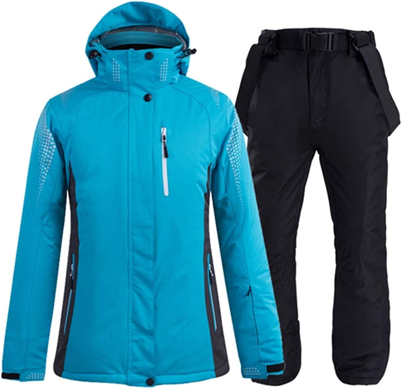 Lklik Frauen Und männer Schneeanzug Snowboard Bekleidung Winterkostüm Winter Outdoor Wasserdicht Winddicht Skisets Jacke + Hose, 2Xl