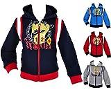 WebWeber Chaqueta escolar unisex para niños y niñas, de forro polar, con capucha, chaqueta deportiva para niños, béisbol, escuela 98 – 128 gris 110