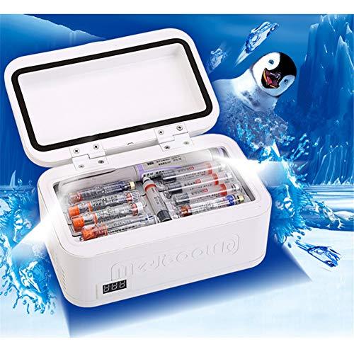 ZAAQ Sac Isotherme De Stockage D'insuline Portable Boîte De Refroidisseur D'insuline Diabétique Réfrigérateur À Température Constante Mini Réfrigérateur Glacière