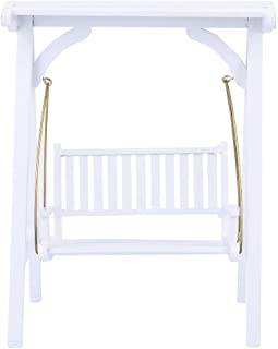 Zerodis 1/12 Scale Dollhouse Accessories Miniature Doll House Accessory Swing Garden Furniture Toy for Dollhouse
