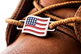 2 USA Flags Shoes Boot Lace Keeper Set US American Workers Shoelace Charms for Shoes Sneakers