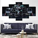 45Tdfc 5 StüCk Kunst Poster Mercedes-AMG Formel 1 W11 Auto