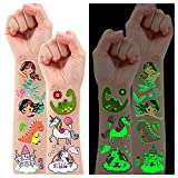 Partywind 245 Styles Glow Temporary Tattoos for Girls,...