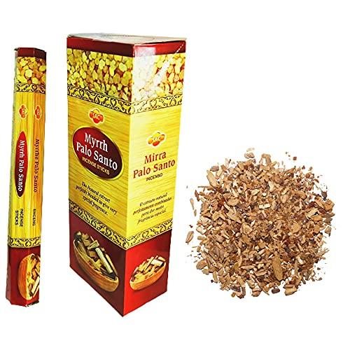 Incenso Sac Mirra Palo Santo - Sacchetto 20 grammi di incenso in grano, Mirra Palo Santo