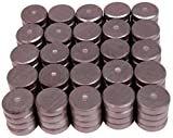 Creative Hobbies 100 Pack of .709 inch (18mm) Round Disc Flat Circle Magnets Bulk for Crafts, Science, Hobbies, DIY Refrigerator, Whiteboard, Fridge Magnets