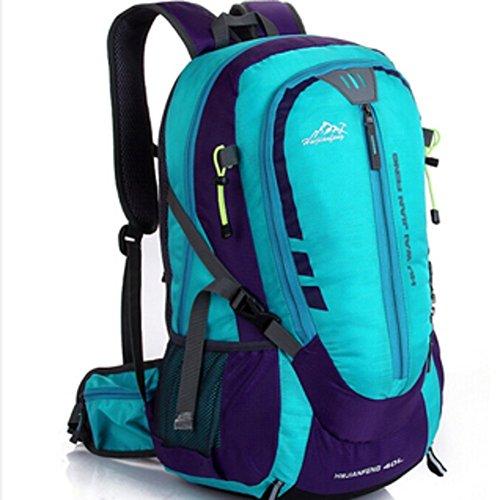 Sincere® la mode Fashion Backpack / Zipper Sacs à dos / Rue / Multifonction / Grand sac de capacité / sacs de montagne / extérieur sac de sport / ordinateur sac à dos bleu 40L