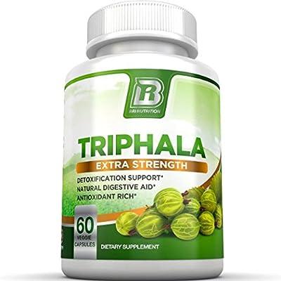 BRI Nutrition Triphala - 1000mg Veggie Himalaya Triphala Pure Extract Plus - 30 Day Supply - 60ct Veggie Capsules from BRI Nutrition