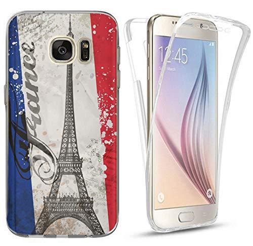 Hülle für Apple iPhone 5 / 5s / SE Handyhülle Design 1178 Paris Eifelturm Frankreich Premium Hülle Silikon Fullbody 360 Grad R&um SchutzHülle Softcase HandyCover Hülle für Apple iPhone 5 / 5s / SE