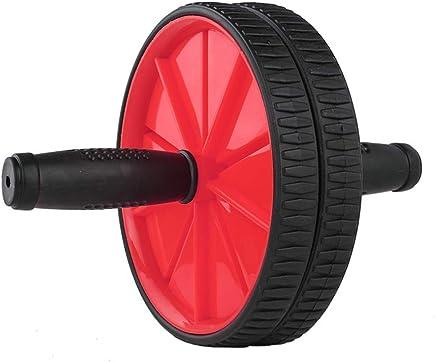Equipo de la aptitud Ab Abs Roller Wheel Kit Fitness Core Roller Wheels Máquina con almohadilla de rodilla y asas blandas Ab Roller Wheel para hombres Mujeres Core Strength Ejercicio Gimnasia Gimnasio