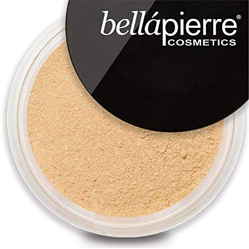 bellapierre Mineral Foundation SPF 15 Loose Finishing Powder | All-Natural Vegan & Cruelty Free Full Coverage Concealer | Hypoallergenic & Safe for All Skin Types | Oil & Talc Free - 0.32 Oz Nutmeg