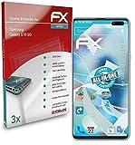 atFoliX Película Protectora Compatible con Samsung Galaxy S10 5G Protector Película, Ultra Claro y Flexible FX Lámina Protectora de Pantalla (3X)