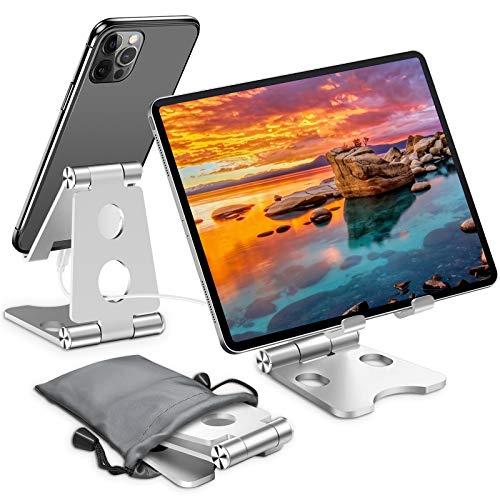 スマホ スタンド 携帯 スタンド スマホスタンド 卓上 角度調整可能 滑り止め スマフォスタンド スタンド ホルダー 折り畳み iPhone/iPad/Android/Nintendo Switch/Kindleなど対応 持運び便利