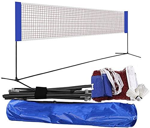 Dengbang Juego de bádminton con Red, Red de jardín al Aire Libre, Red de bádminton, Red de Tenis portátil, Red de Voleibol de Tenis Ajustable, Red Profesional-6.1m