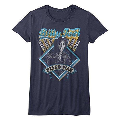 American Classics Billy Joel Music Billy Joel Juniors Short Sleeve T Shirt M Navy