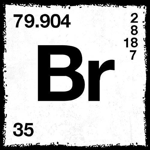 how about tee? - Br - Brom - Periodensystem - Heisenberg - stylischer Kühlschrank Magnet mit lustigem Spruch-Motiv - zur Dekoration oder als Geschenk