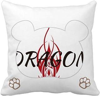 OFFbb-USA Animal Myth Dragon's Eastern Western Wings - Funda cuadrada para almohada