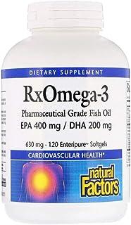 Natural Factors Rx Omega-3 Factors - 630 mg - 120 Softgels