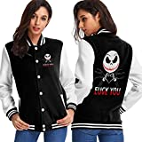 Nightmare Before Christmas Jack Skellington Womens Sport Jersey Comfort Fleeces Sport Coat Black