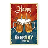Biglietto auguri compleanno Beerday