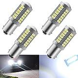 KaiDengZhe Blanc 1156 BA15S P21W 5630 33SMD Clignotants Ampoules LED 900LM Super Bright Feu de Recul Feu de Freinage Arrière Phares antibrouillard Position Feu arrière 12-30V 3.6W(4 pièces)