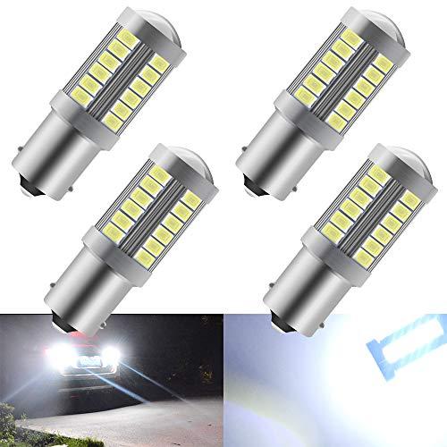 4 pz bianco 1156 BA15S P21W 5630 33SMD lampadine LED auto 900LM Super luminoso luce di retromarcia luce freno posteriore fendinebbia luce posizione fanale posteriore 12-30 v 3.6 w