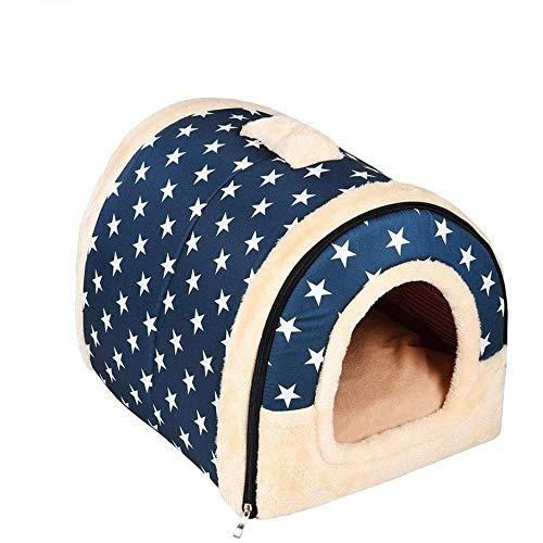 N / E Nido de peluche para mascotas, nido de gato, plegable, para cuatro estaciones, cama universal de doble uso, extraíble y lavable.