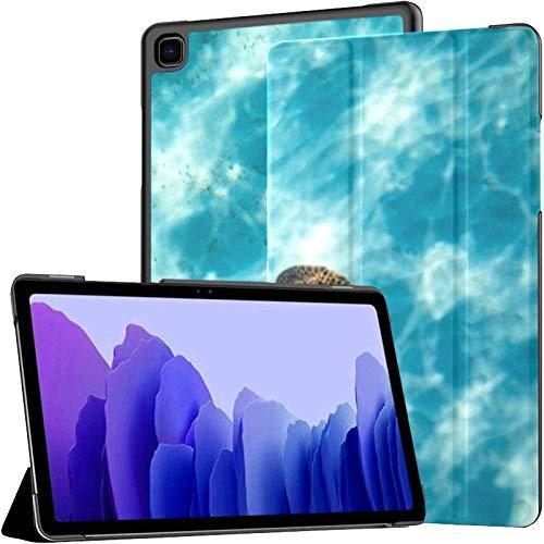 Funda para Samsung Galaxy Tab A7 Tablet de 10,4 Pulgadas 2020 (sm-t500 / t505 / t507), Bonaire Caribbean Netherlands 2016 Turtle Swimming Funda de Soporte de múltiples ángulos con activación/suspen