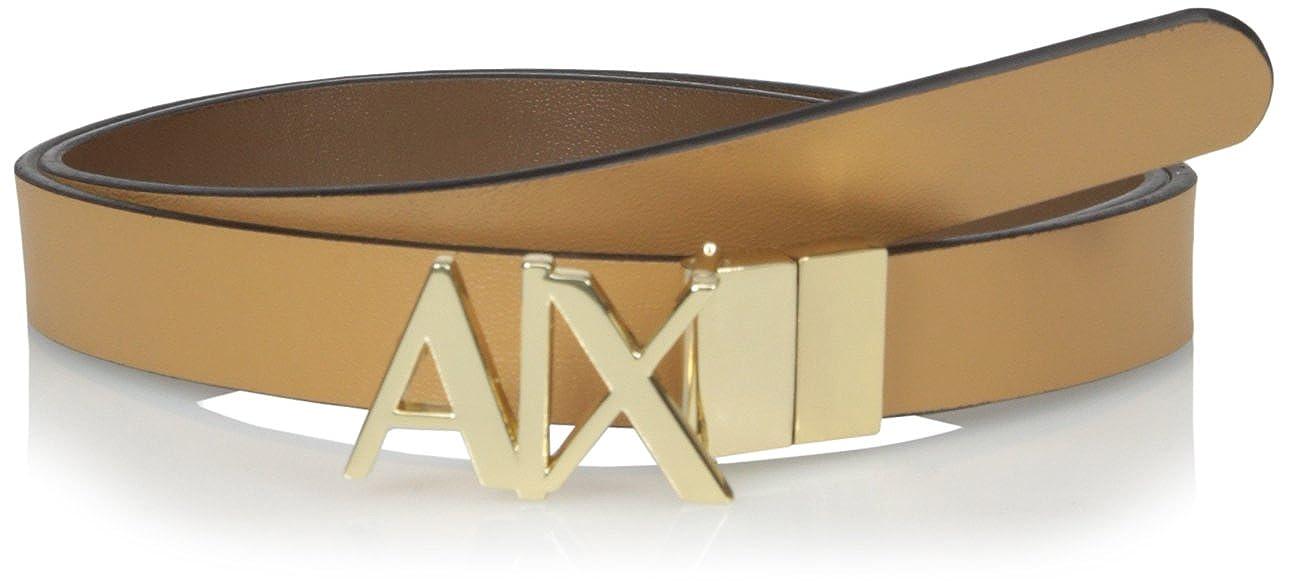 Buy A X Armani Exchange Women S Ax Logo Hinge Belt Camel Dark Brown Xx Small At Amazon In